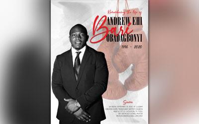 Andrew Ehi Obadagbonyi 1986-2020