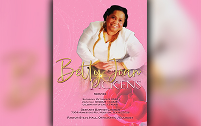 Betty Joan Pickens 1942-2020