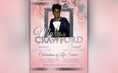 Mary Crawford 1937-2020