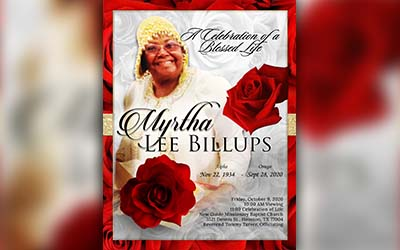 Myrtha Lee Billups 1934-2020