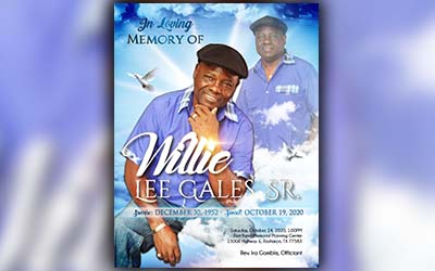 Willie Gales 1952-2020