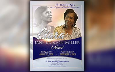 Clara Jane Jackson Miller 1936-2020