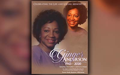 Ginger Laraine Turner-Anderson 1943-2020